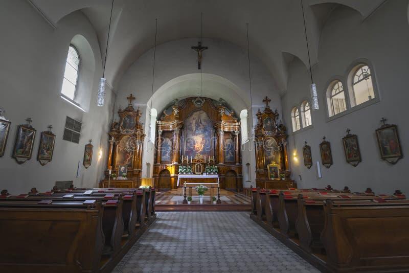 La chiesa Kapuzinerkirche del cappuccino a Vienna immagine stock libera da diritti