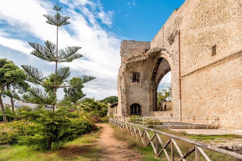La chiesa non finita di Spasimo di dello di Santa Maria, è situata nel distretto di Kalsa, una di più vecchie parti di Palermo, l fotografia stock libera da diritti