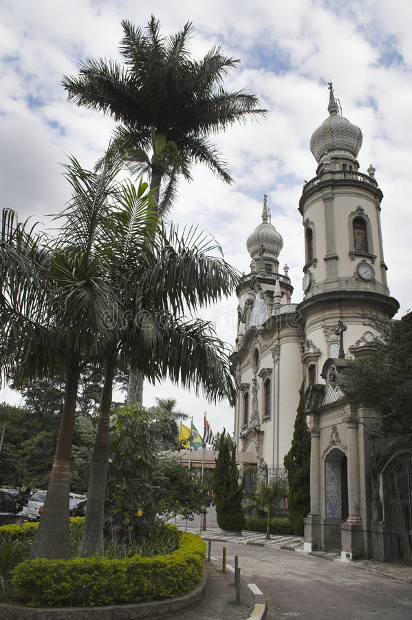 La chiesa Nossa Senhora fa il Brasile fotografia stock libera da diritti