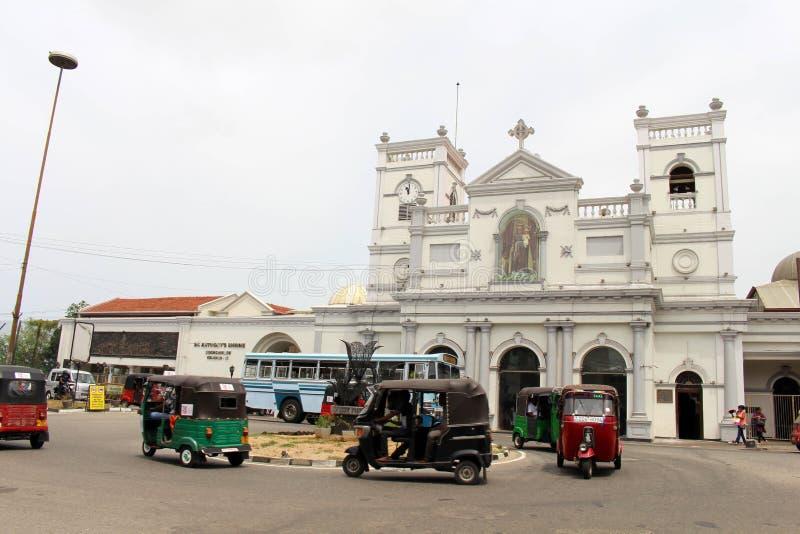 La chiesa o il santuario di St Anthony a Colombo, la situazione AR fotografia stock libera da diritti