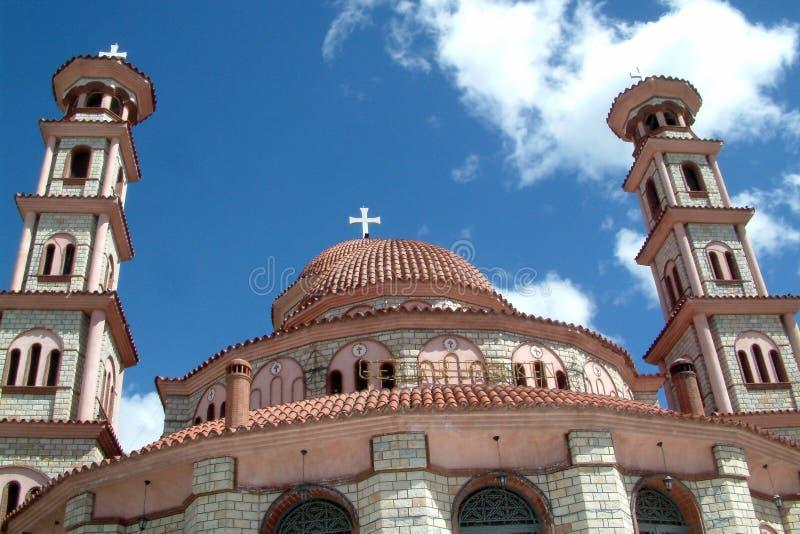 La chiesa ortodossa di San Giorgio in Korca, Albania immagini stock