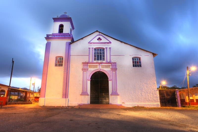 La chiesa a Portobelo è il Iglesia de San Felipe fotografia stock libera da diritti