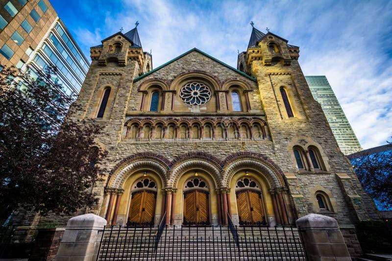 La chiesa presbiteriana di St Andrew, a Toronto del centro, Ontario fotografia stock libera da diritti