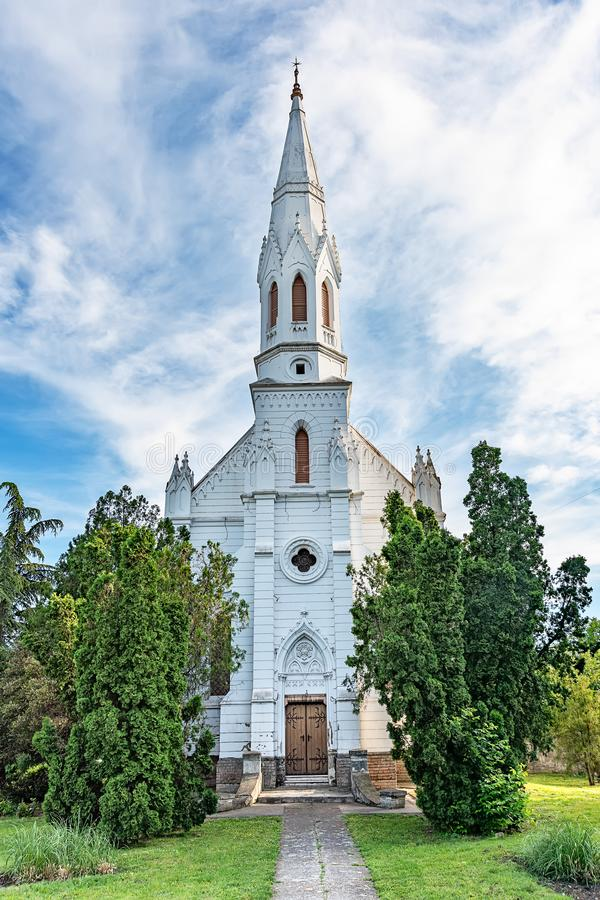 La chiesa riformata è una chiesa di denominazione protestante dentro in Zrenjanin fotografia stock libera da diritti
