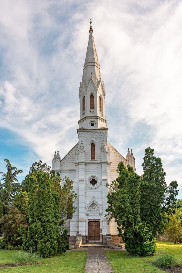 La chiesa riformata è una chiesa di denominazione protestante dentro in Zrenjanin fotografie stock