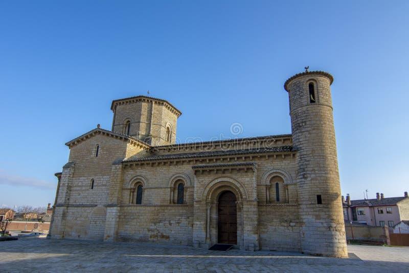 La chiesa romanica di Fromista sul modo a Santiago, Palenc fotografia stock libera da diritti