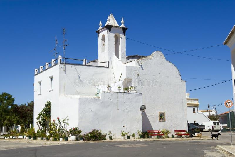 La chiesa storica di San Lorenzo, Faro, Portogallo fotografia stock libera da diritti