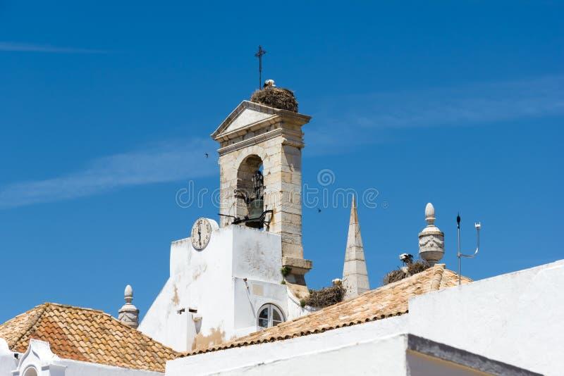 La chiesa storica a Faro Portogallo fotografia stock libera da diritti