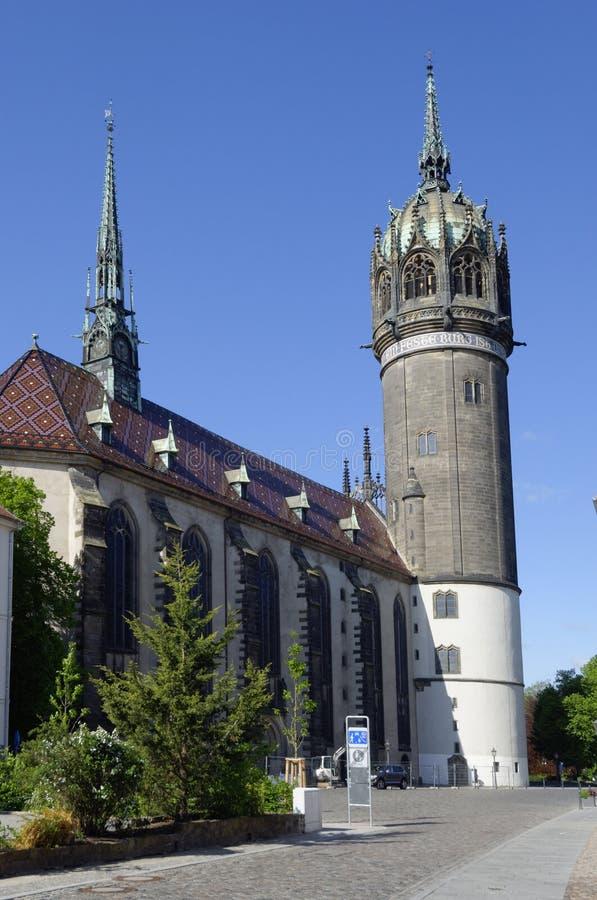 La chiesa Wittenberg di tutti i san immagini stock libere da diritti