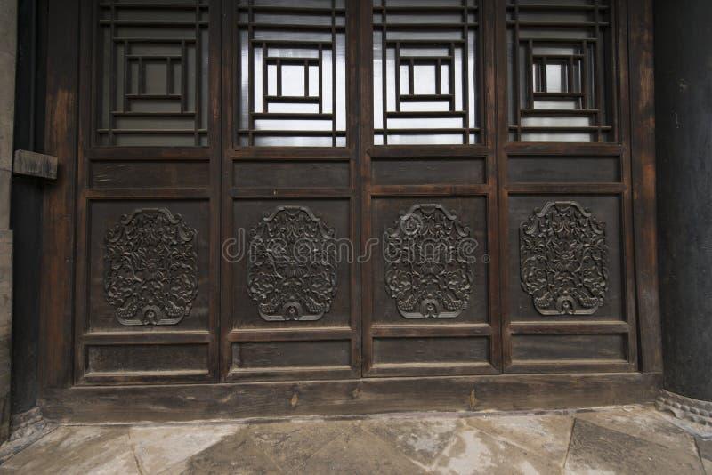 La Chine antique construisant la porte en bois image libre de droits
