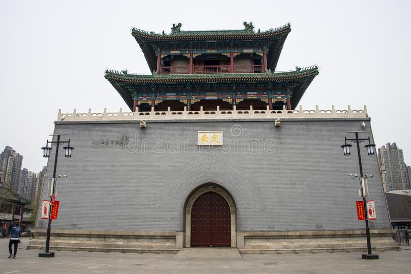 La Chine, Asie, Tianjin central, tour de tambour images stock