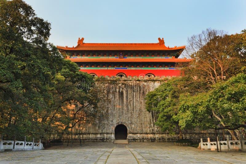 La Chine Nanjing Ming Tomb Front image libre de droits