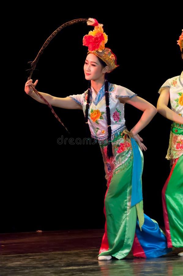 La Chine, représentations de danse d'opéra de Pékin image stock
