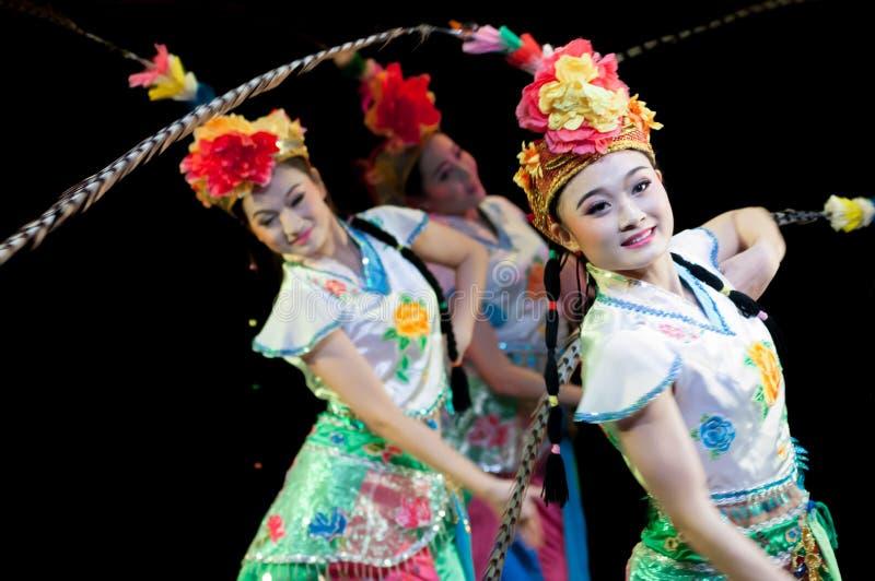 La Chine, représentations de danse d'opéra de Pékin photo libre de droits