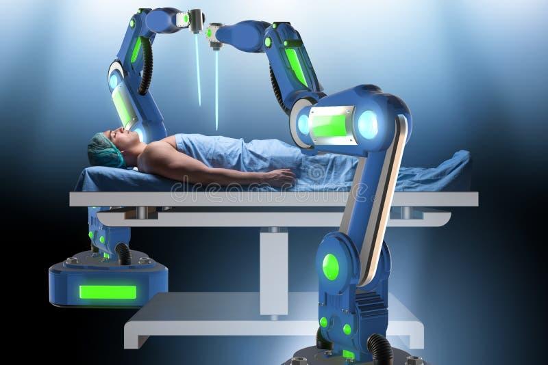 La chirurgie exécutée par le bras robotique photo stock