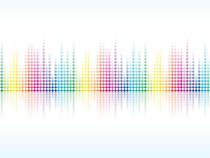 La chispa colorida abstracta del arco iris puntea el fondo ilustración del vector