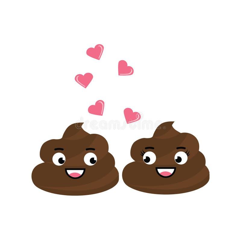 La chute mignonne de dunette du vecteur deux dans l'amour, ont un flirt romantique illustration libre de droits