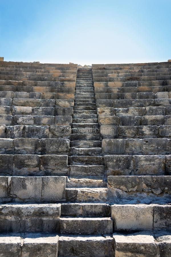La Chypre Kourion antique Ampitheatre photos libres de droits