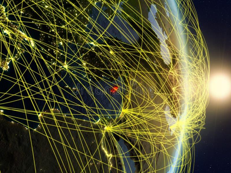 La Chypre sur la terre reliée au réseau de planète images stock