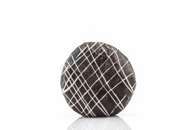 La ciambella del cioccolato con spruzza immagini stock libere da diritti
