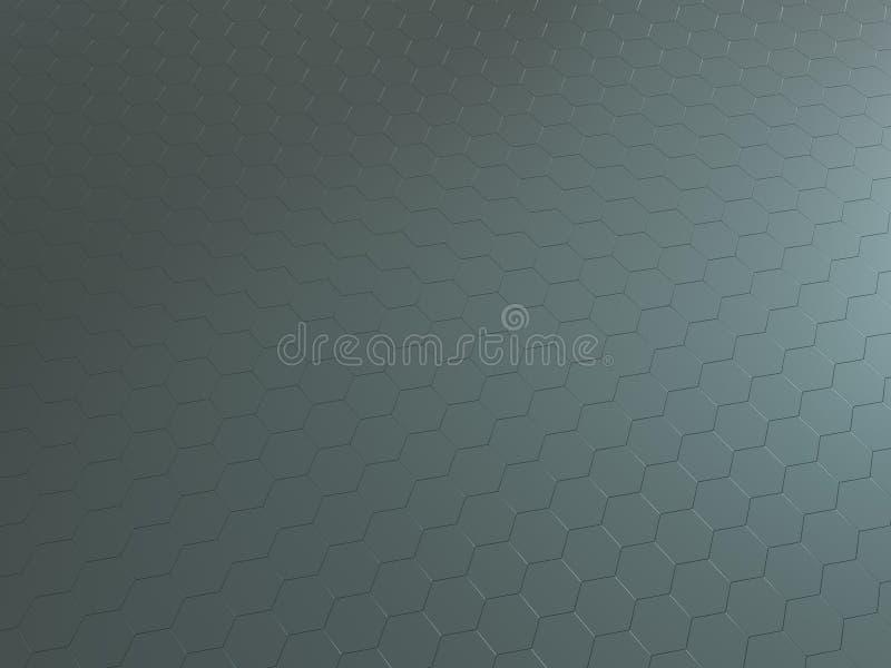 la Ciao-tecnologia 3D ha reso il fondo di metallo esagonale ha riflesso di superficie royalty illustrazione gratis