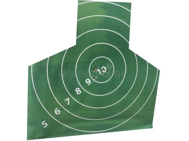 la cible avec des trous de balle juste au milieu photographie stock libre de droits