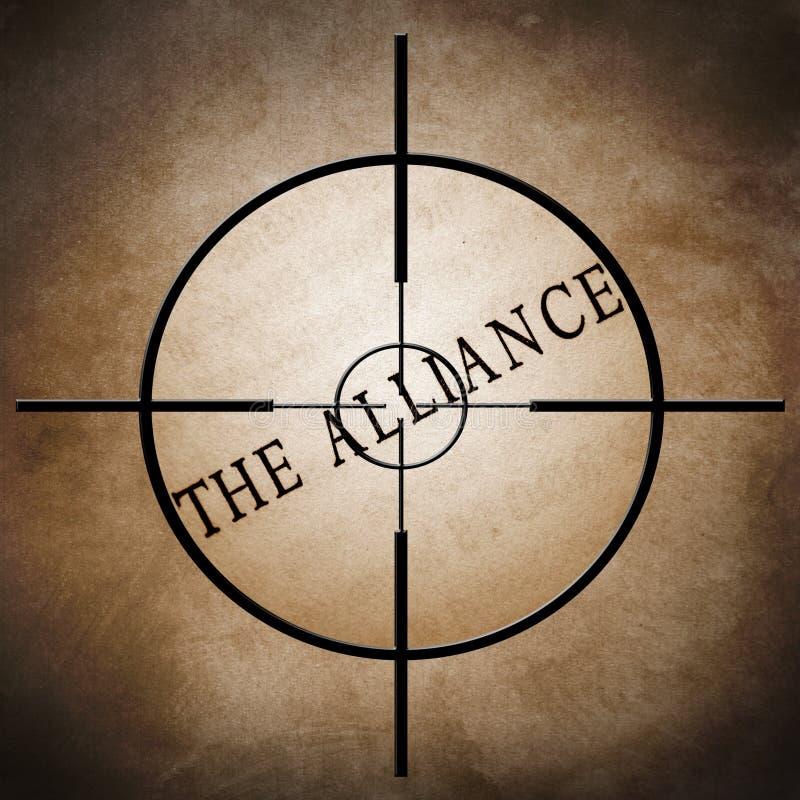 La cible d'alliance illustration stock