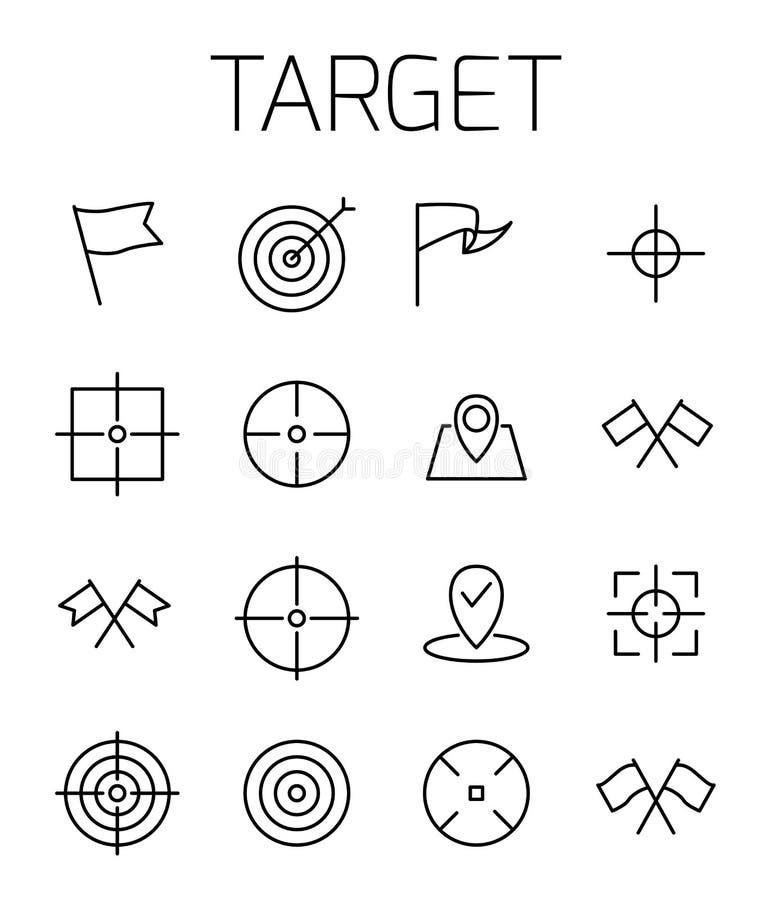 La cible a rapporté l'ensemble d'icône de vecteur illustration de vecteur