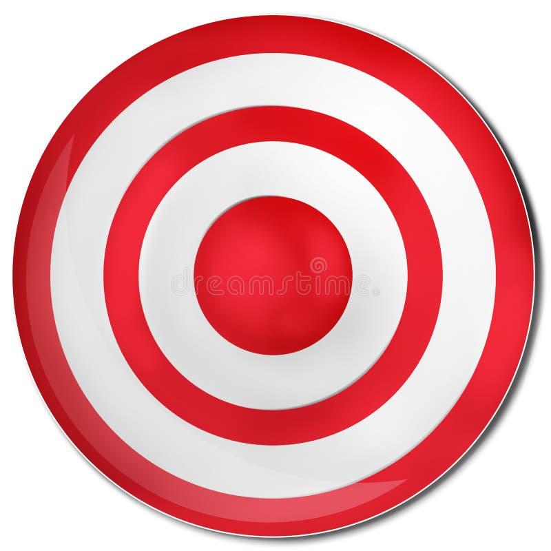 La cible rouge illustration stock
