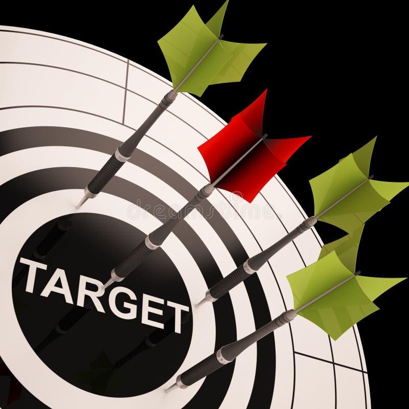 La cible sur la cible affiche orienter parfait illustration stock