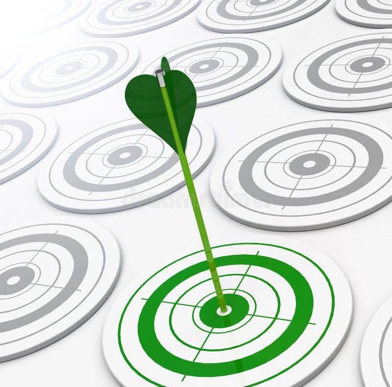 La cible verte illustration libre de droits