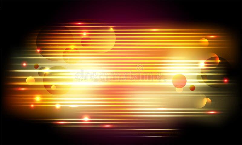 La ciencia, concepto futurista de la tecnología basó el movimiento abstracto de la velocidad stock de ilustración