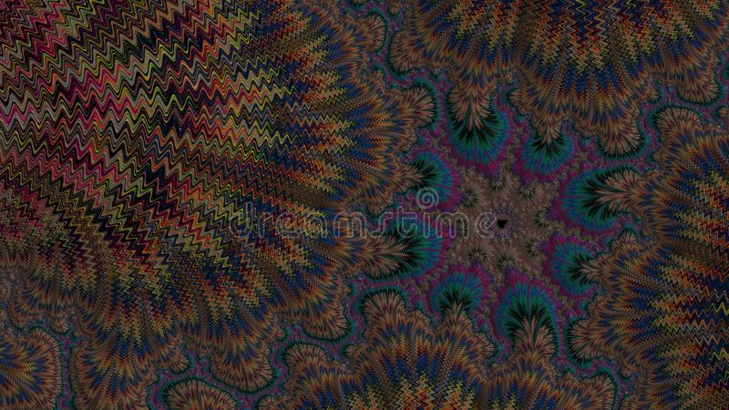La ciencia de fractales - diseño 1 imagenes de archivo