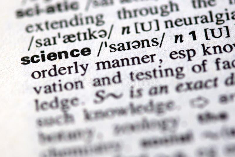 La ciencia de la palabra en un diccionario foto de archivo libre de regalías
