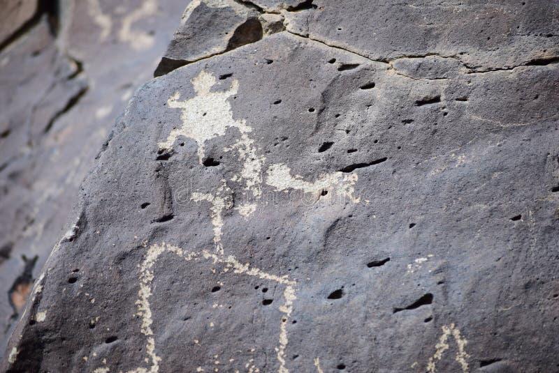 La Cieneguilla-Petroglyphe-Standort - Santa Fe, Nanometer lizenzfreie stockfotos