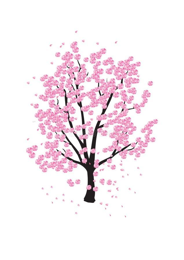 La ciliegia orientale illustrazione vettoriale