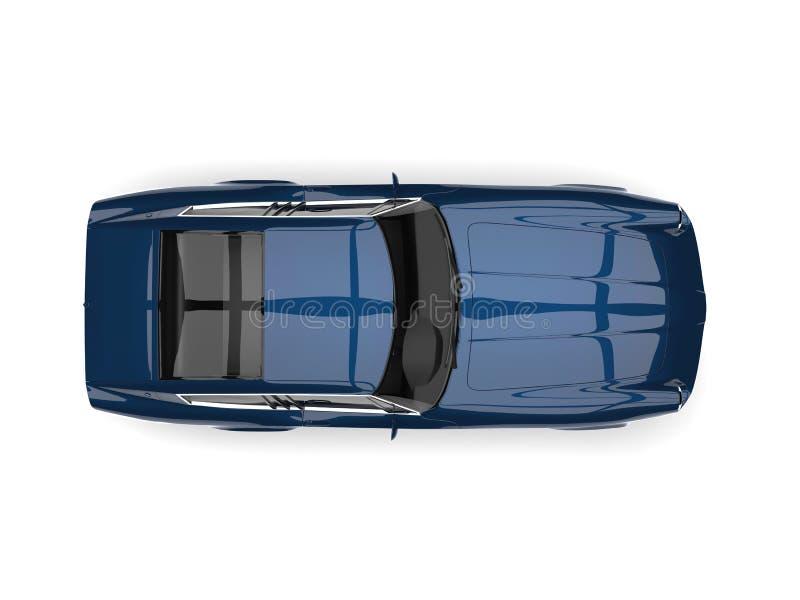 La cima automobilistica veloce d'annata blu scuro egiziana giù osserva illustrazione vettoriale