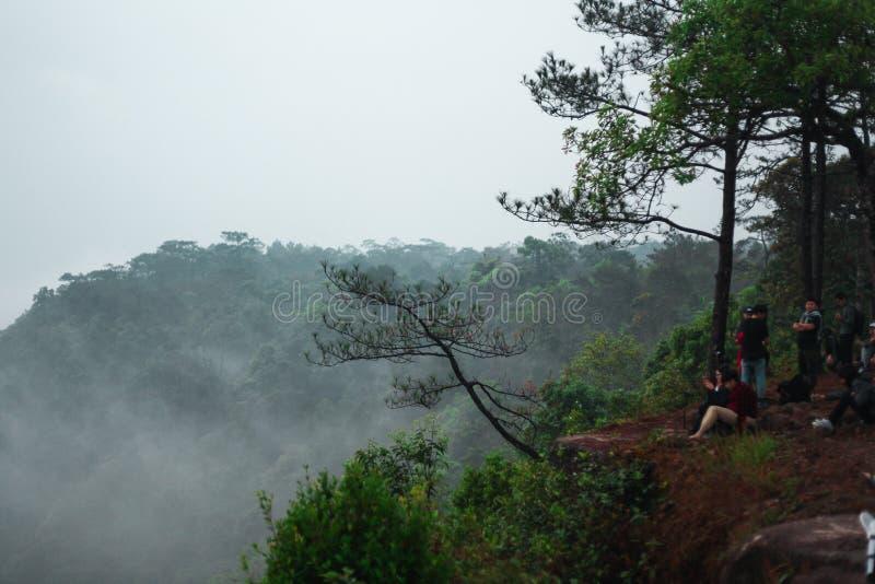 La cima del phu è il più popolare con i turisti fotografia stock