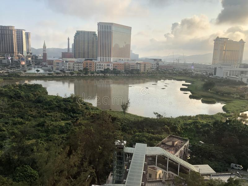 La cima di Taipa, Macao fotografie stock
