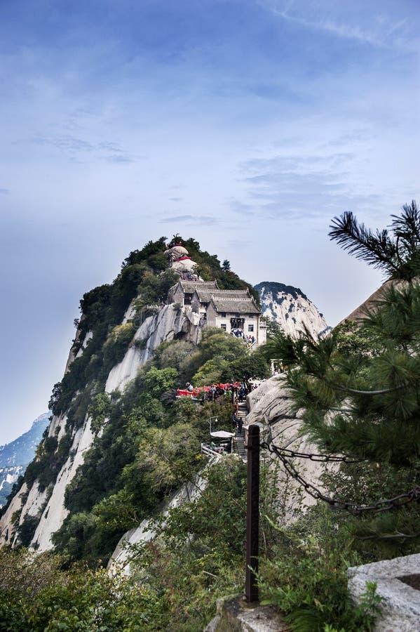 La Cina: il modo alla cima della montagna hua immagine stock libera da diritti