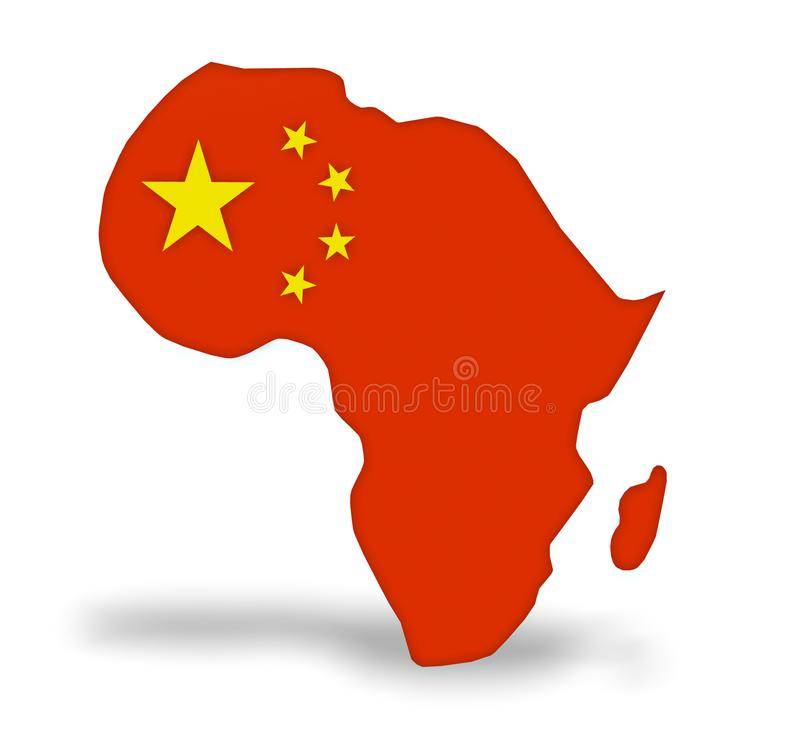 La Cina investe in Africa illustrazione di stock