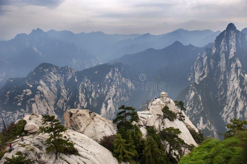 La Cina: paesaggio di hua della montagna fotografia stock libera da diritti