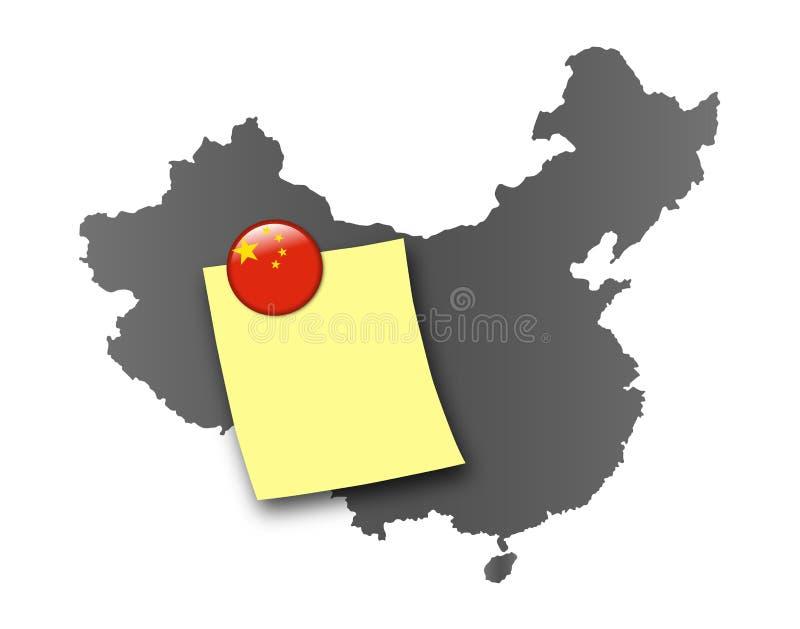 La Cina - scheda di Pin illustrazione vettoriale
