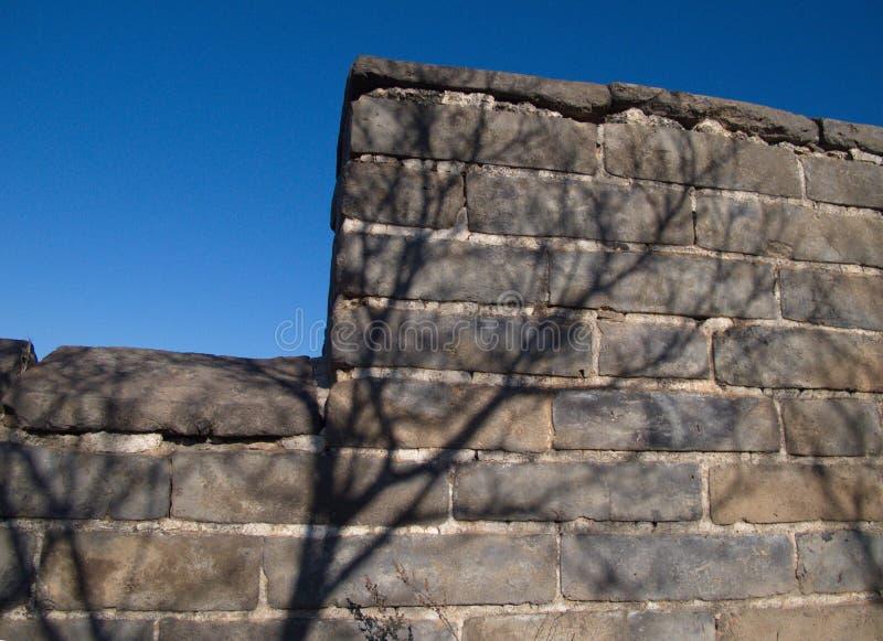 La Cina selvaggia il muro laterale della grande muraglia immagini stock