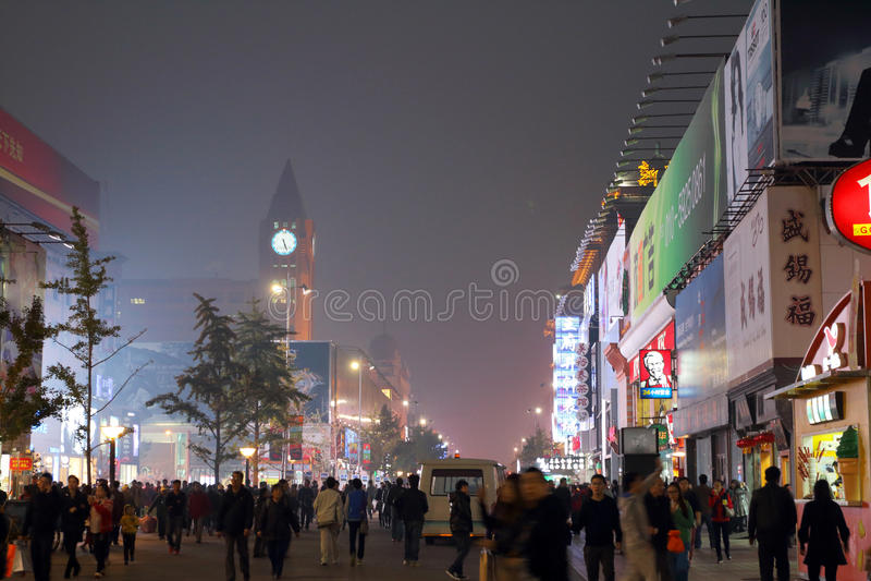 La Cina: Wangfujing fotografie stock