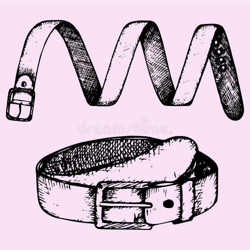 La cinghia dell'uomo, accessorio di modo royalty illustrazione gratis