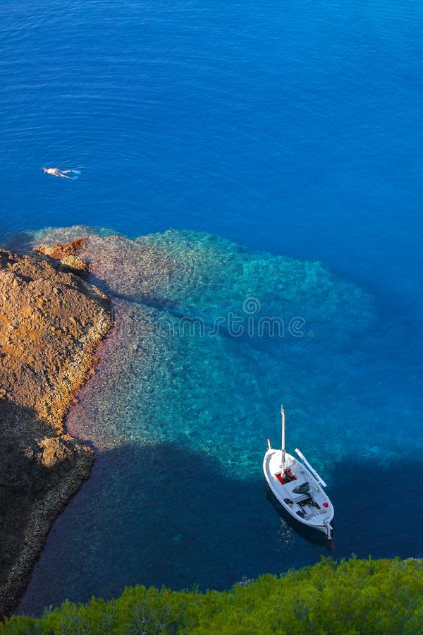 La Ciotat plongée autour de l 'ile Verte royaltyfri bild