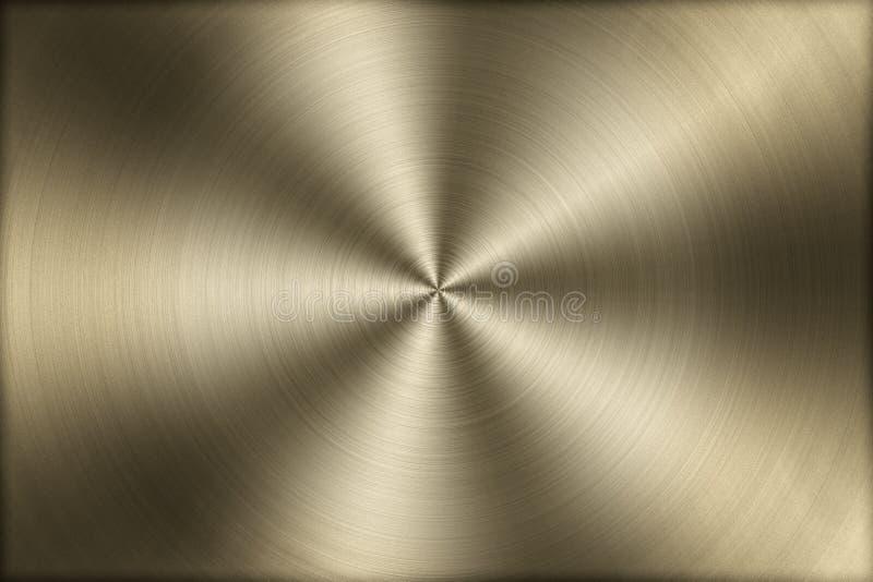 La circulaire a balayé le fond de texture en métal d'or, illustration illustration libre de droits