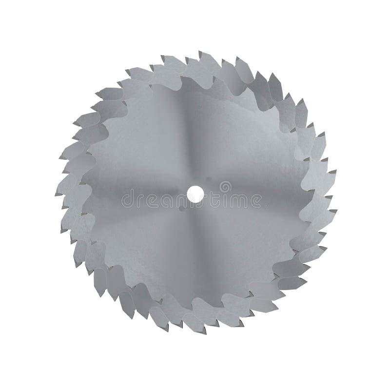La circulaire scie la lame pour le travail du bois photographie stock