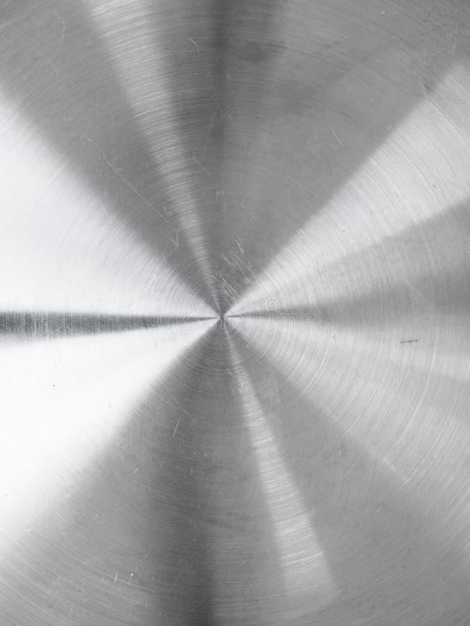 La circular cepilló el acero inoxidable imagen de archivo